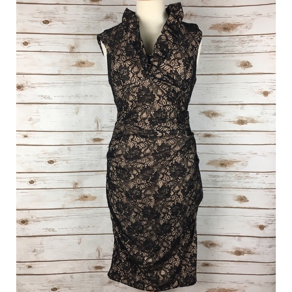 Xscape Dresses Black Cream Lace Form Fitting Formal Dress Poshmark